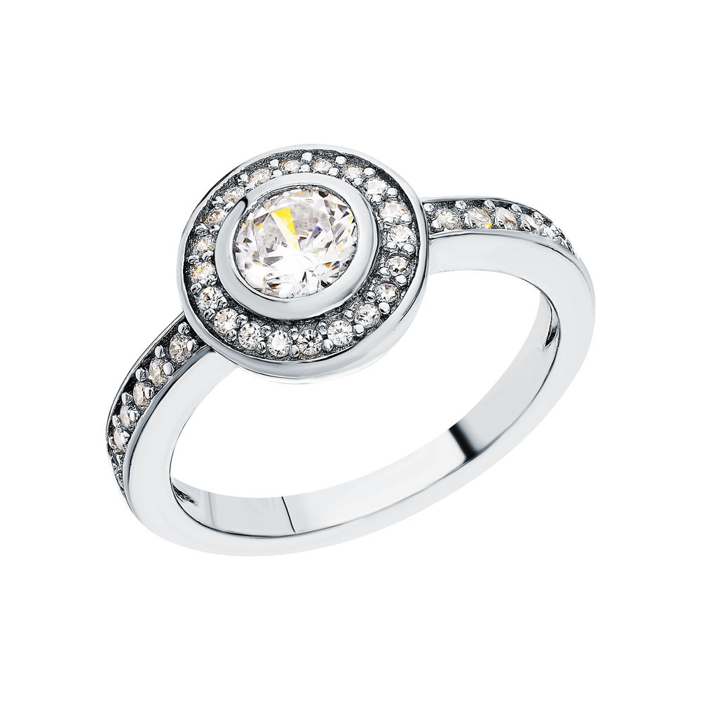 Серебряное кольцо с фианитами в Санкт-Петербурге