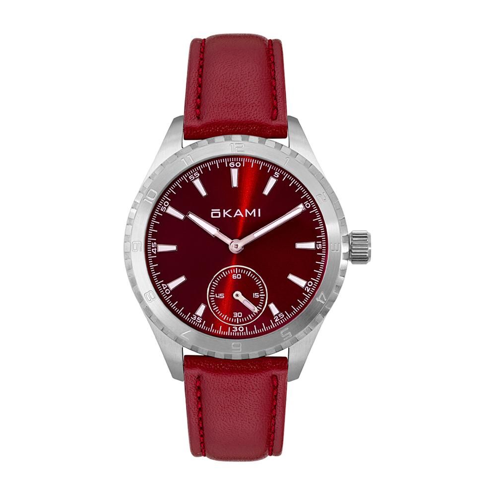 Женские часы на красном ремне из натуральной кожи в Санкт-Петербурге