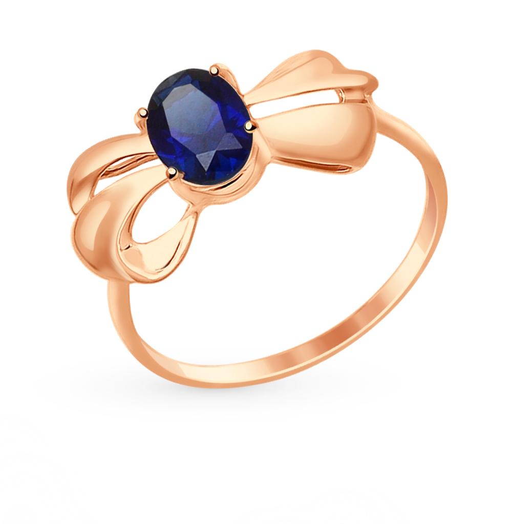 золотое кольцо с корундом SOKOLOV 714686*