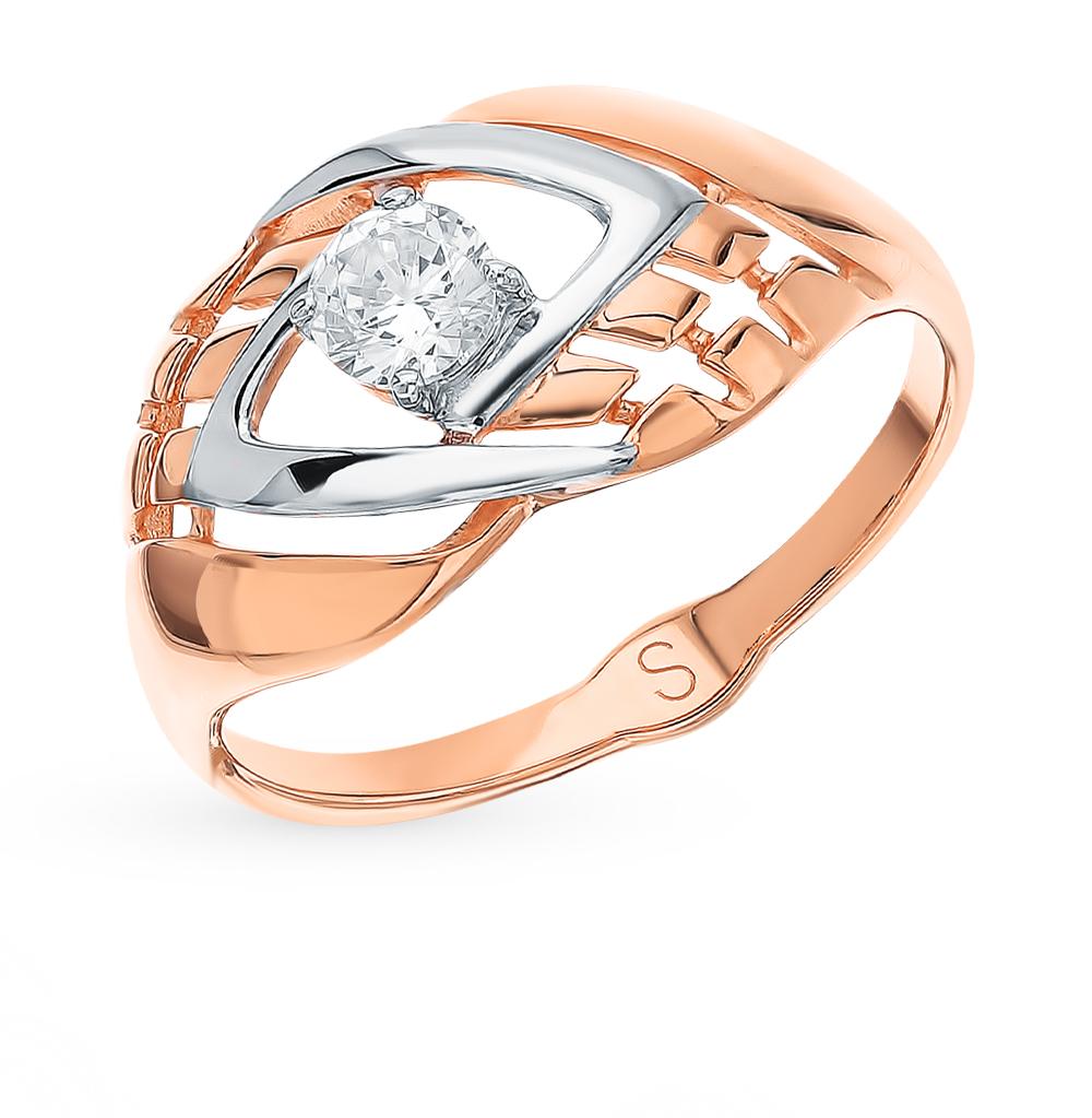 Золотое кольцо с фианитами SOKOLOV 018176 в Екатеринбурге