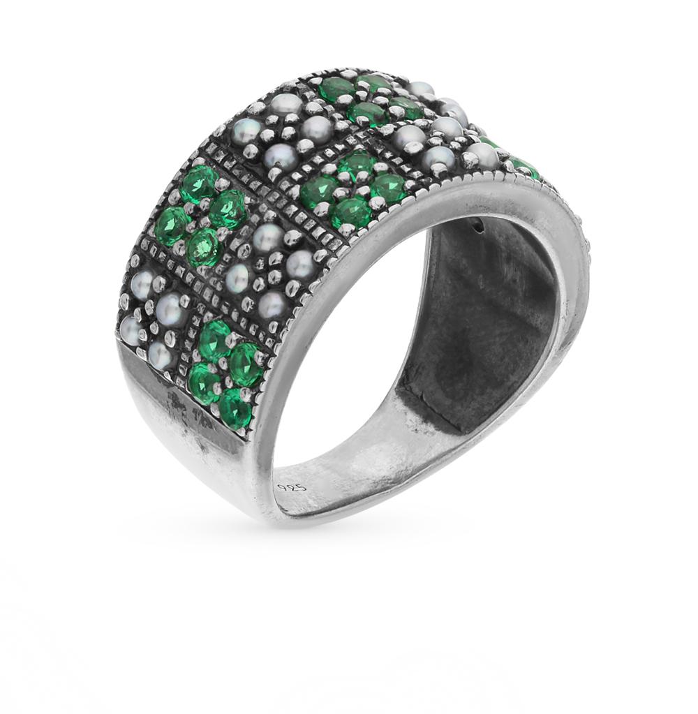 Фото «серебряное кольцо с бериллом и жемчугом»