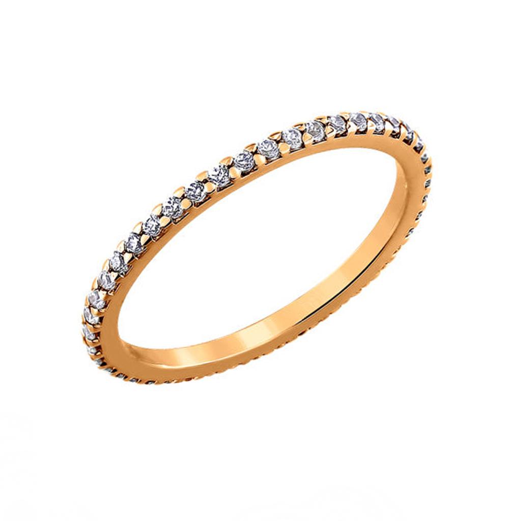 серебряное кольцо с фианитами SOKOLOV 93010150