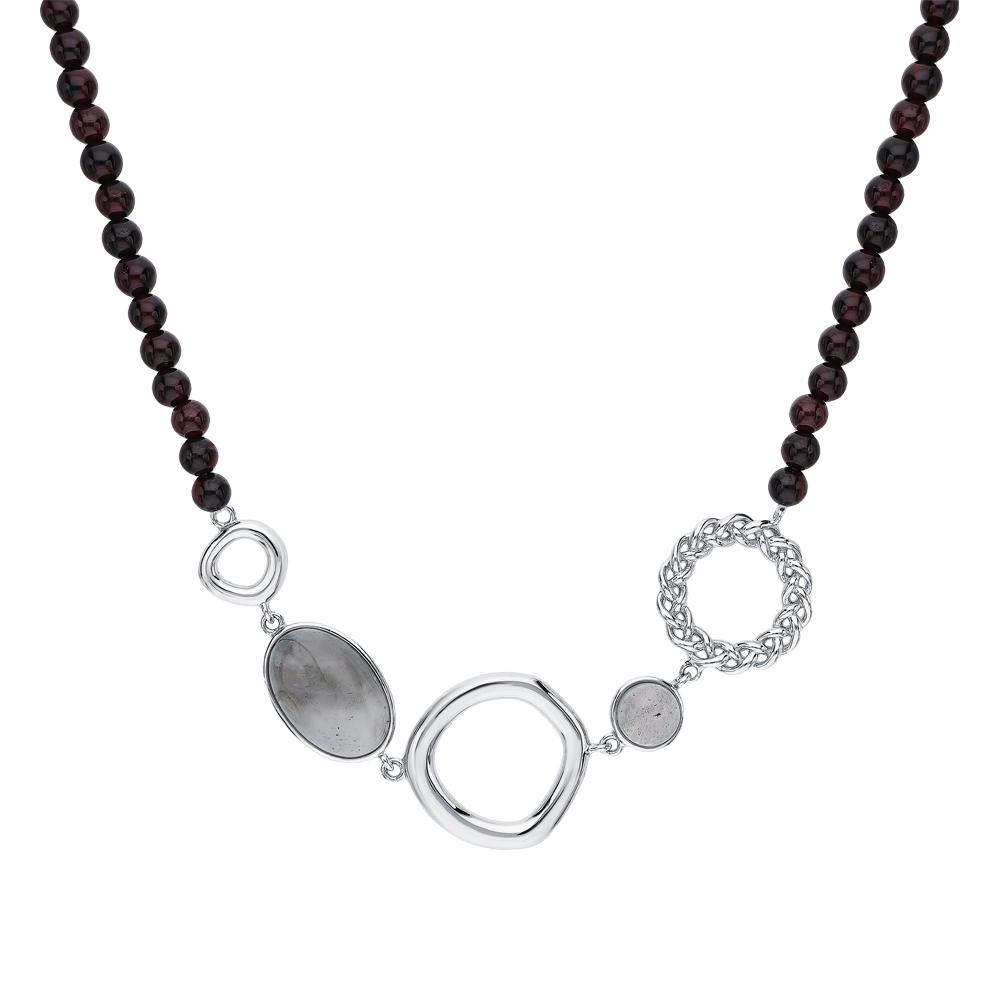 Фото «Серебряное шейное украшение с лабрадоритами»