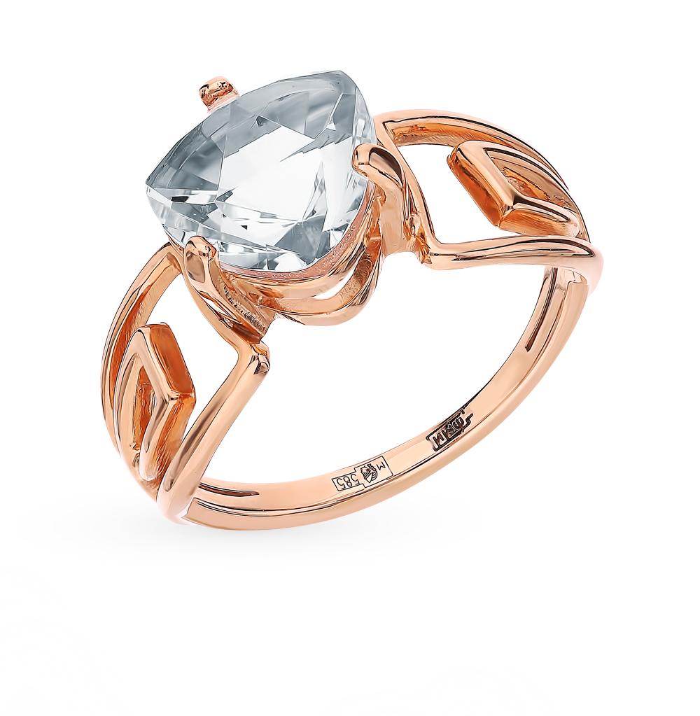 Золотое кольцо с горным хрусталем в Екатеринбурге