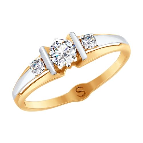 Золотое кольцо с фианитами SOKOLOV 017846* в Екатеринбурге