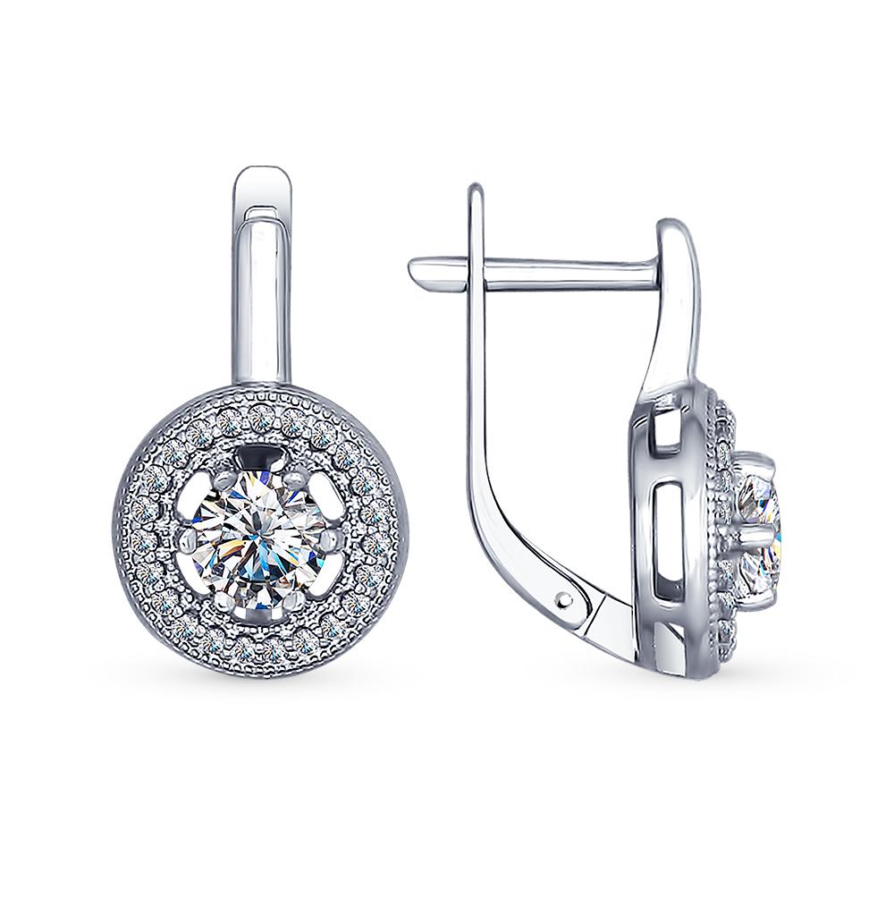 серебряные серьги с фианитами SOKOLOV 94022451