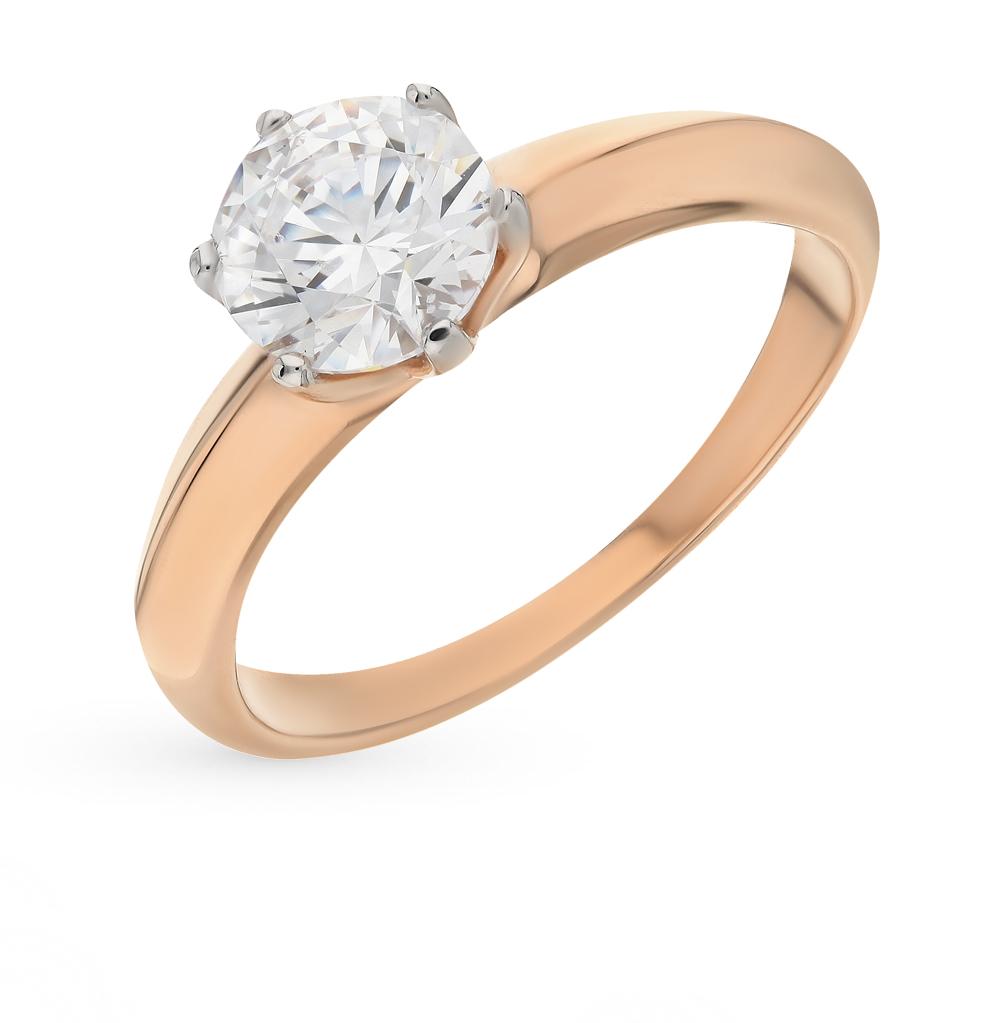 золотое кольцо с фианитами SOKOLOV 81010245*