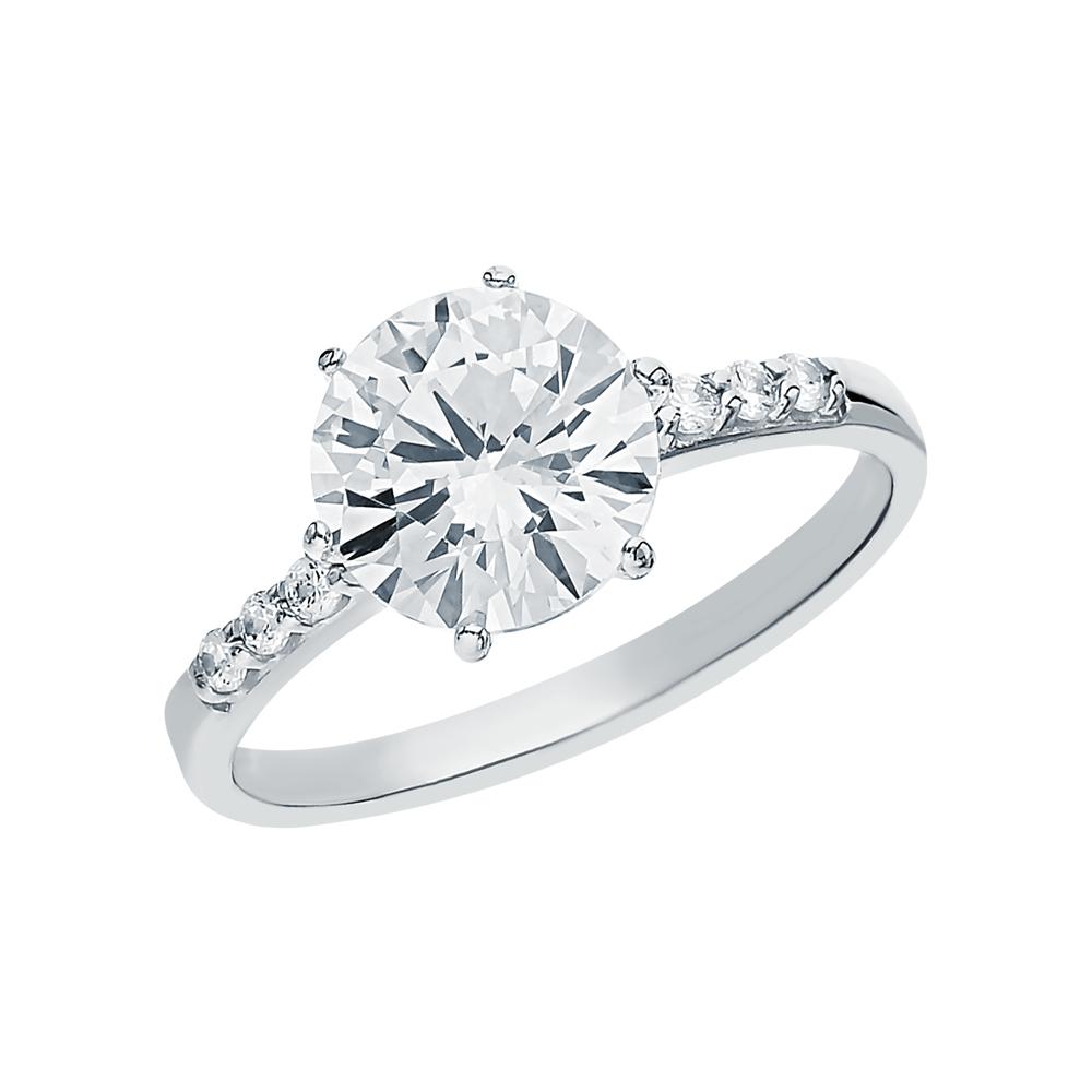 Фото «Серебряное кольцо с фианитами SOKOLOV 89010012»