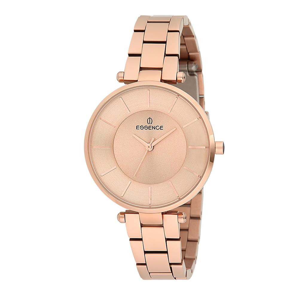 Фото «Женские часы ES6418FE.440 на стальном браслете с розовым IP покрытием с минеральным стеклом»