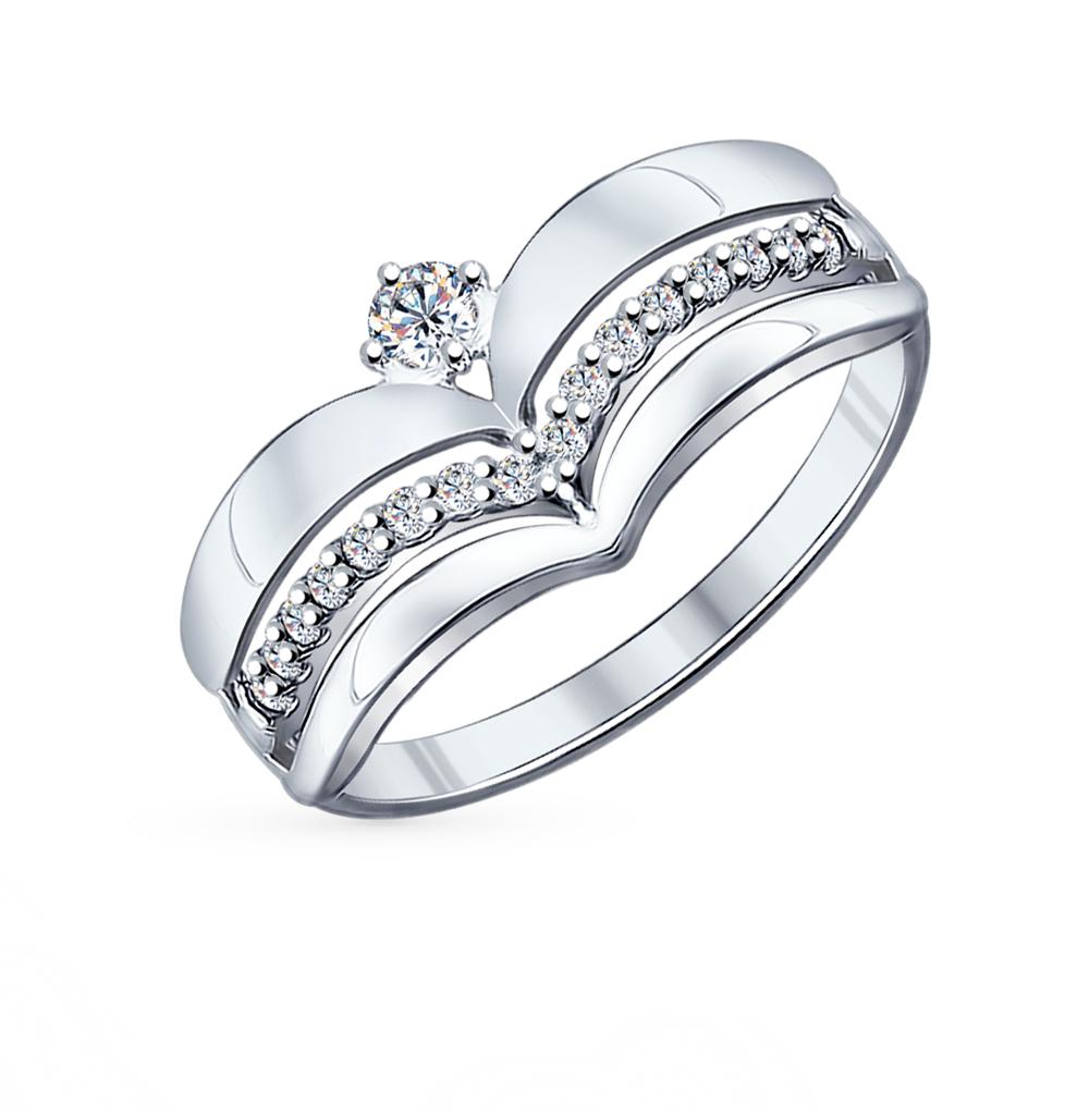 Фото «Серебряное кольцо с фианитами SOKOLOV 94011839»