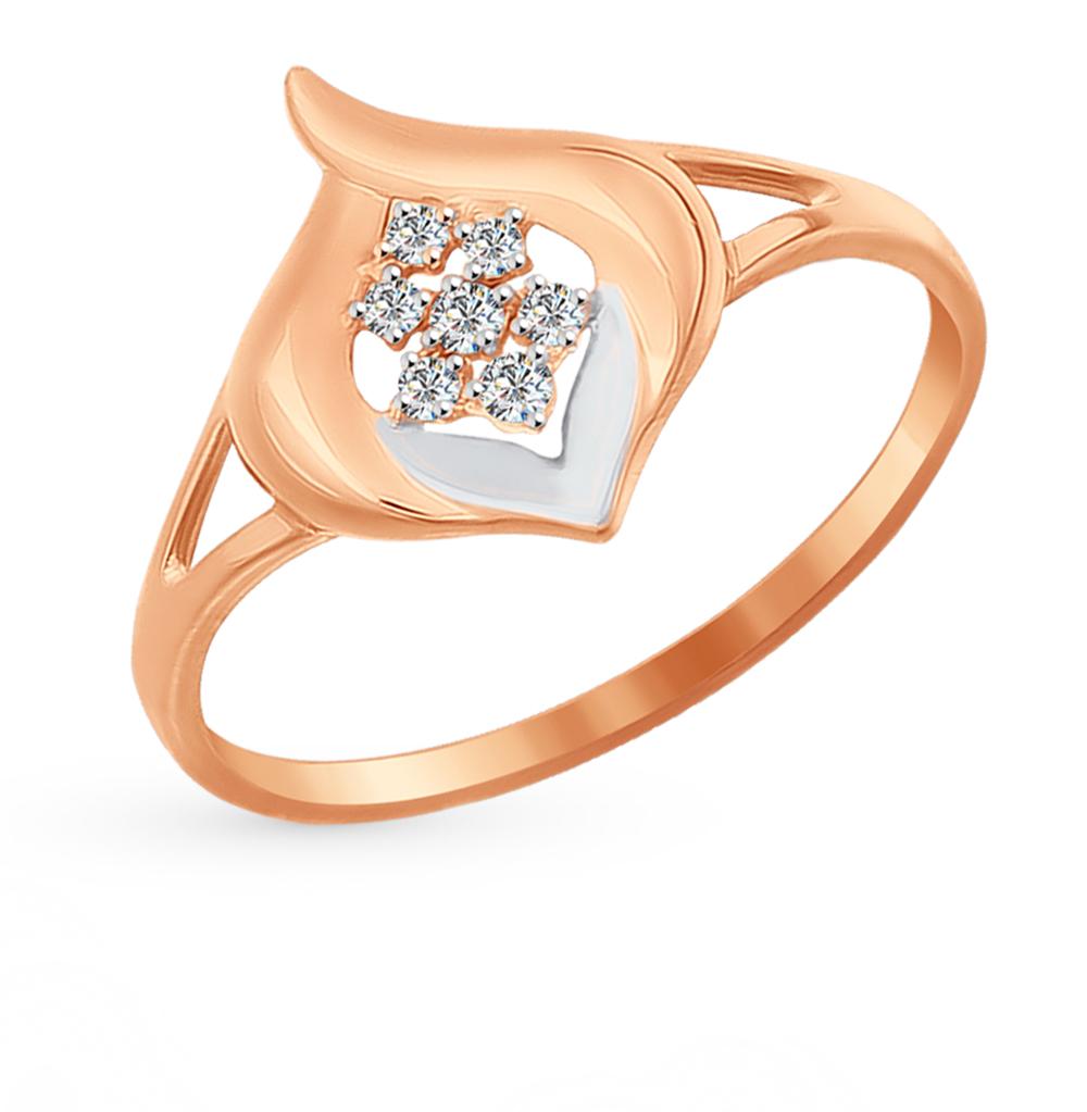 Фото «Золотое кольцо с фианитами SOKOLOV 016969*»