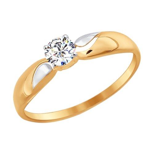 Золотое кольцо с фианитами SOKOLOV 016946* в Екатеринбурге