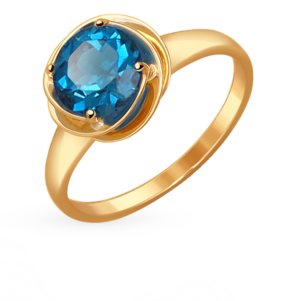 золотое кольцо с топазами SOKOLOV 714507*