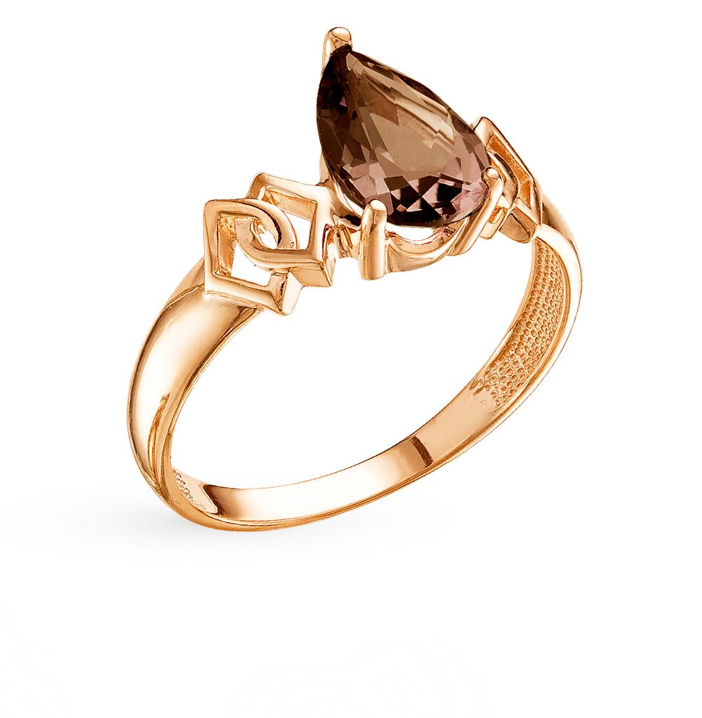 золотое кольцо с раухтопазами