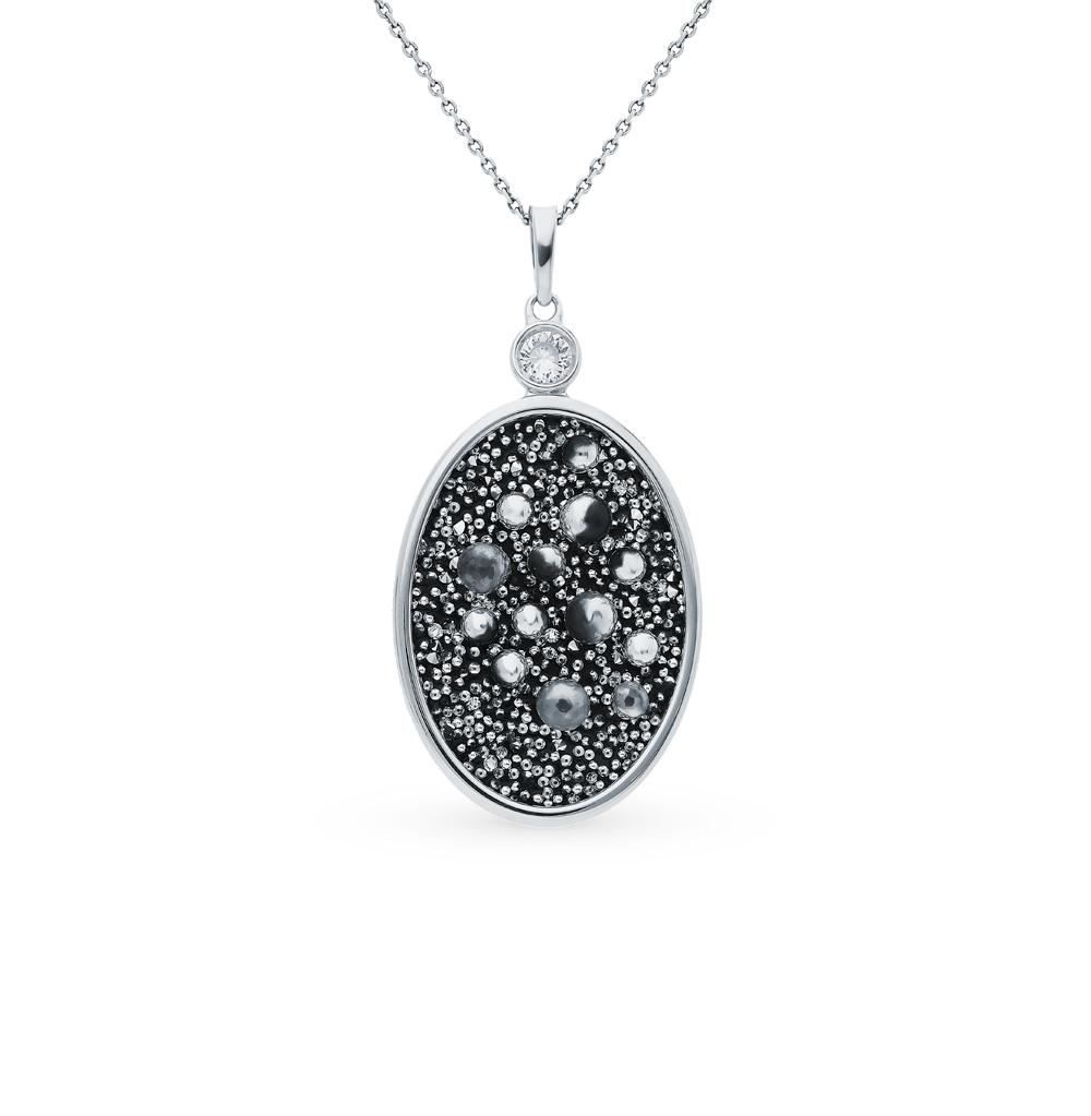 Серебряная подвеска с кристаллами и фианитами SOKOLOV 94032384 в Екатеринбурге