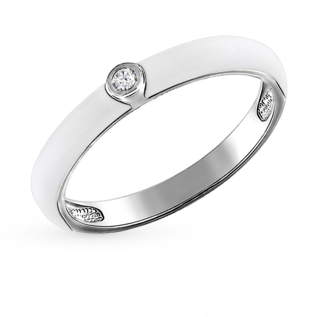 Фото «Серебряное кольцо с фианитами и эмалью SOKOLOV 94011143»
