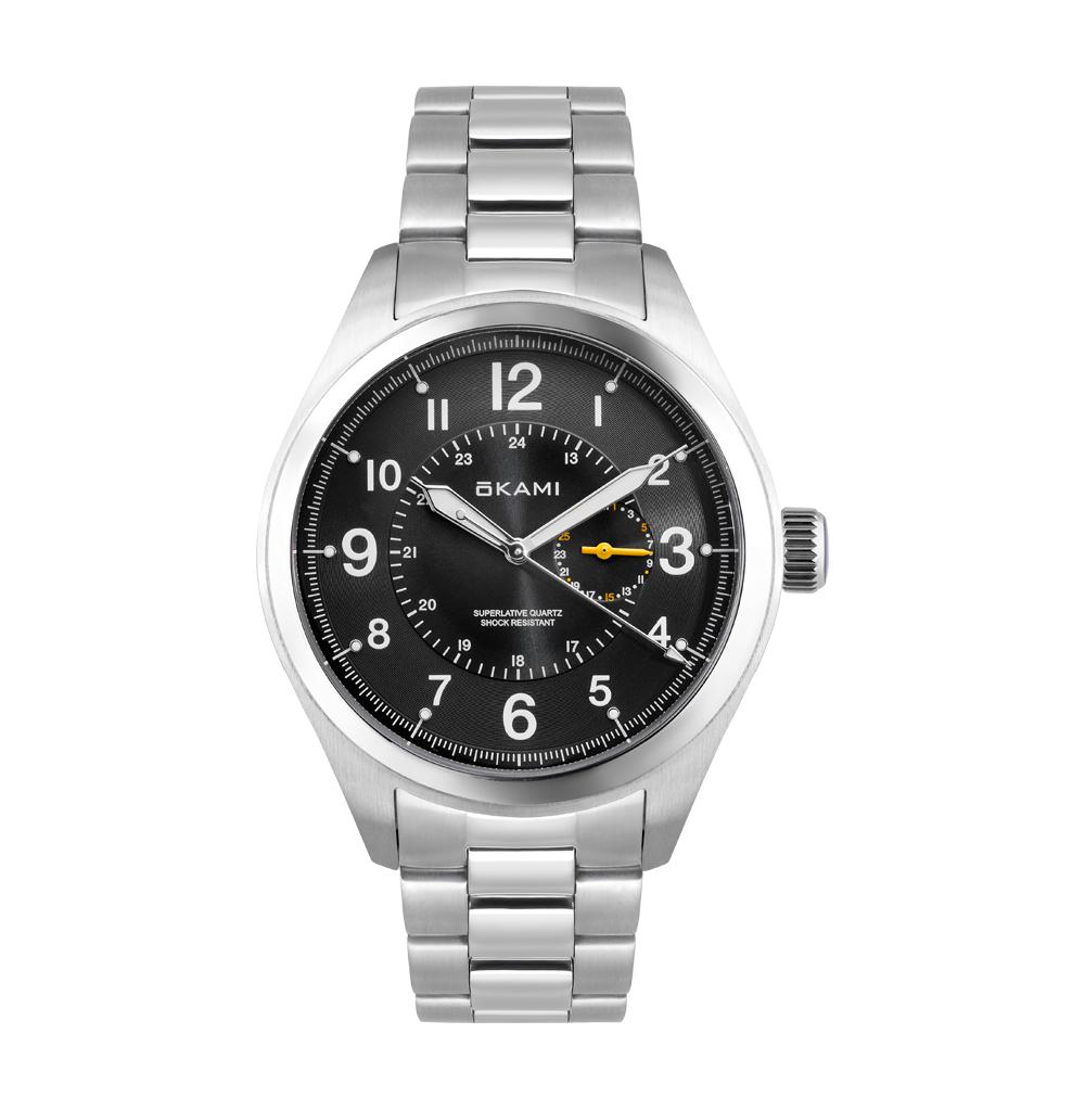 Мужские часы с датой на стальном браслете