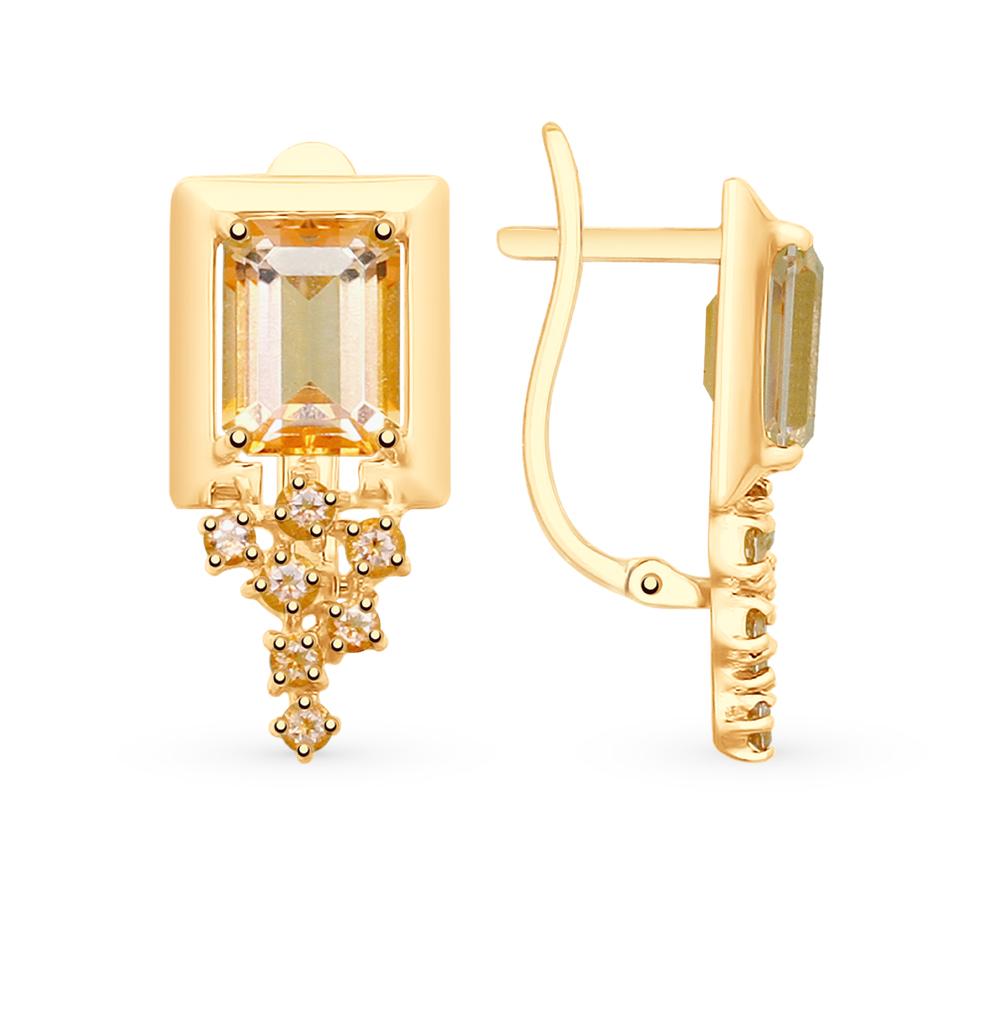 Фото «Золотые серьги с топазами SOKOLOV 725708*»