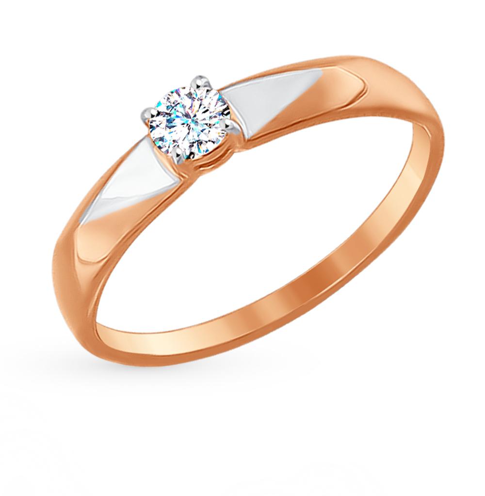 золотое кольцо с фианитами SOKOLOV 017131*
