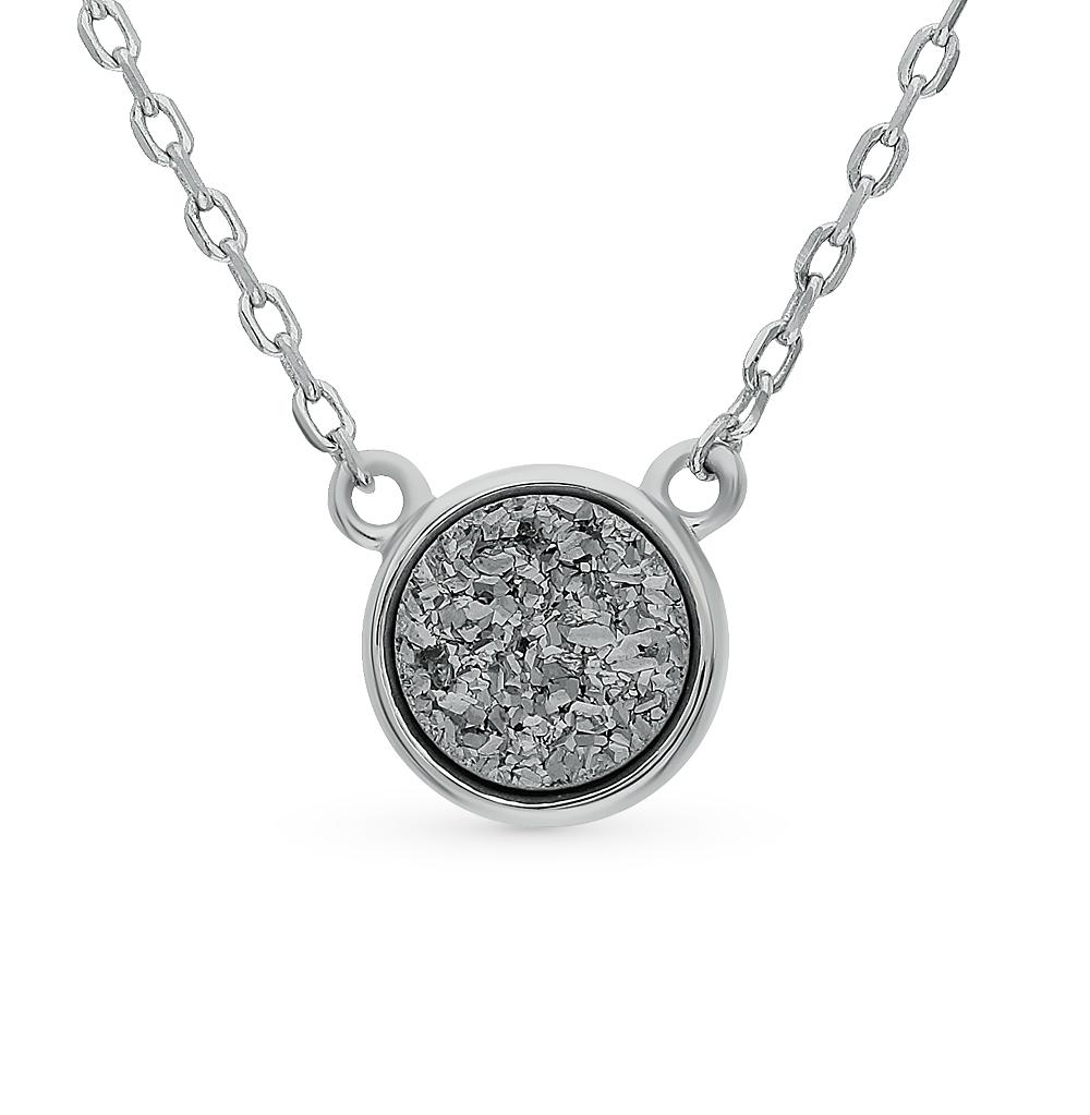 Фото «Серебряное шейное украшение с кристаллами»
