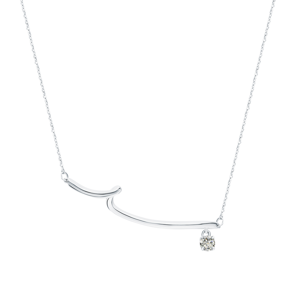 Фото «Серебряное колье с бриллиантами»