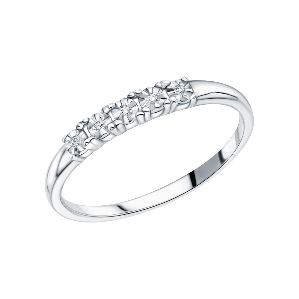 Серебряное кольцо с бриллиантами в Екатеринбурге