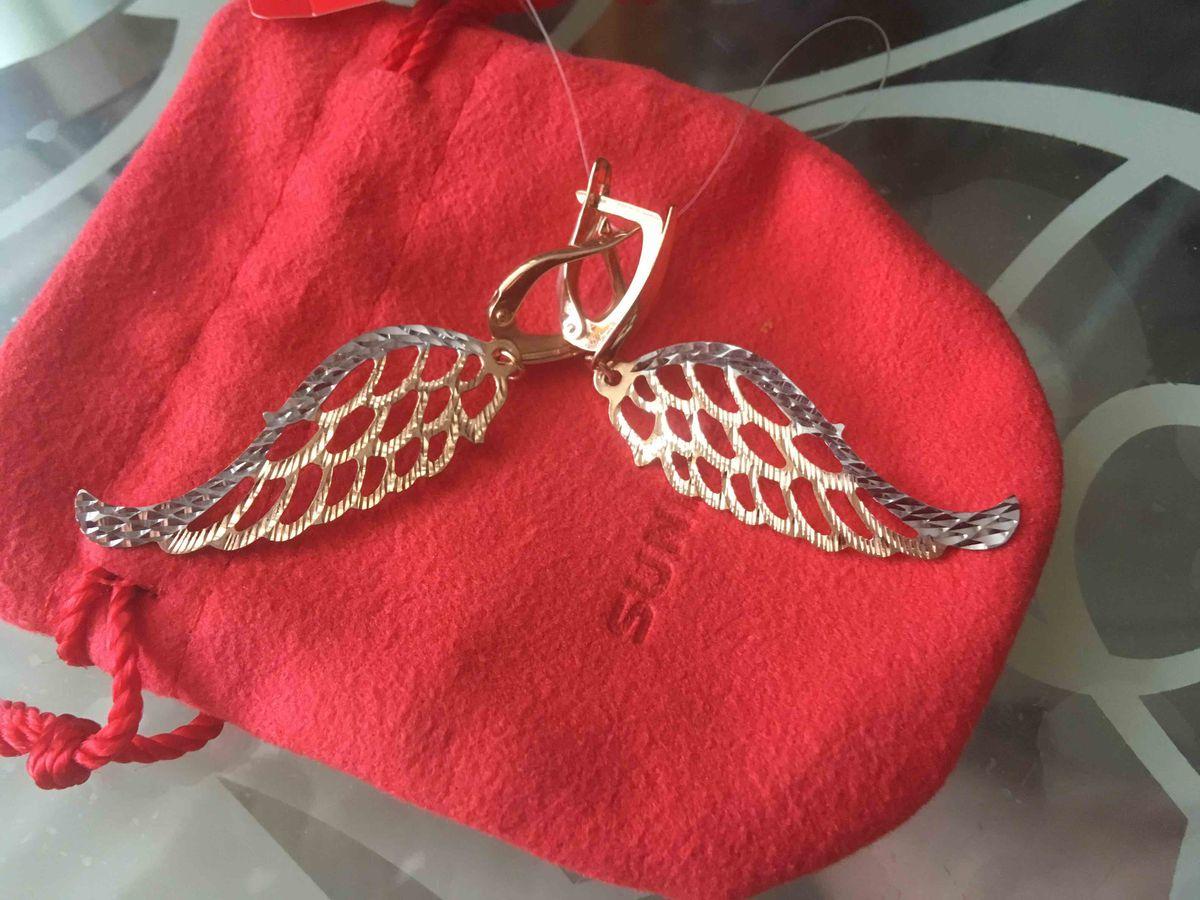 Серьги серебрянные с позолотой