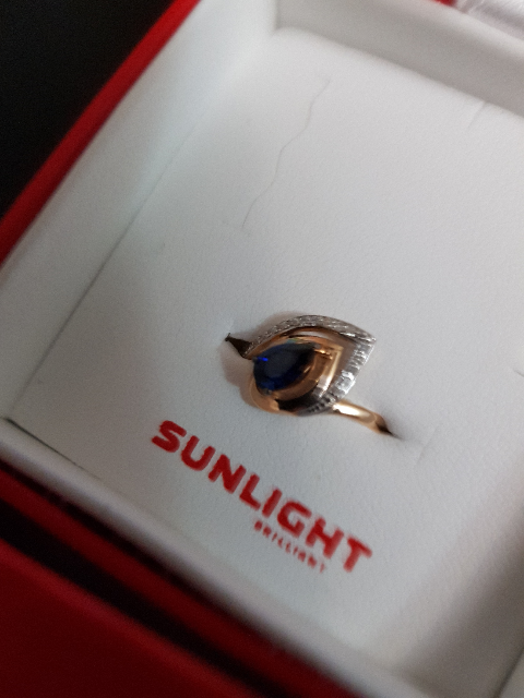 Кольцо с сапфипом и бриллиантами