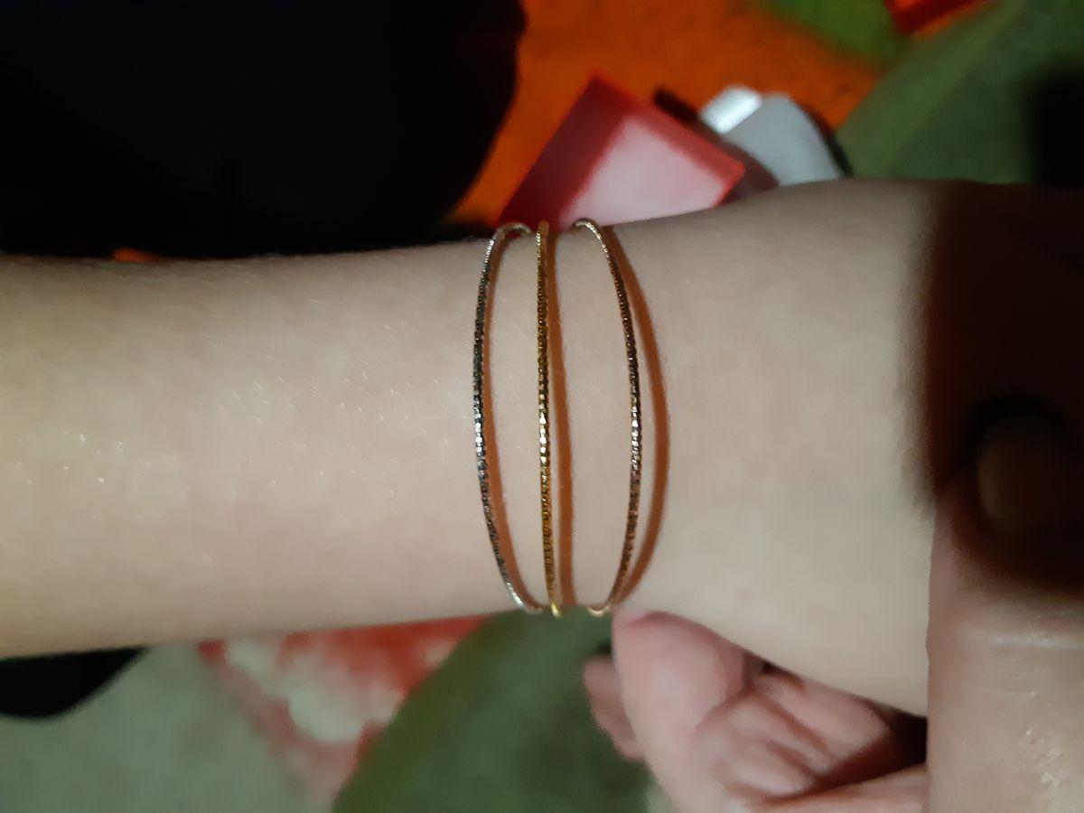 Изящный Тройной браслет из позолоченного серебра трех цветов