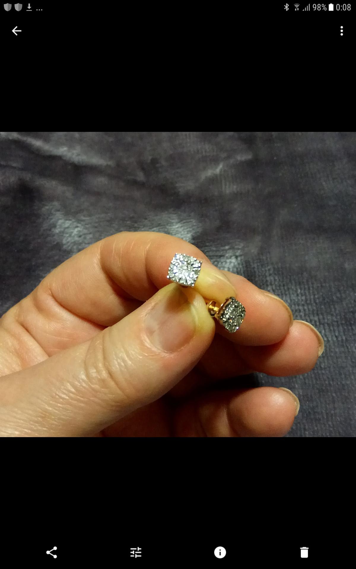 Бриллиантовые пусеты