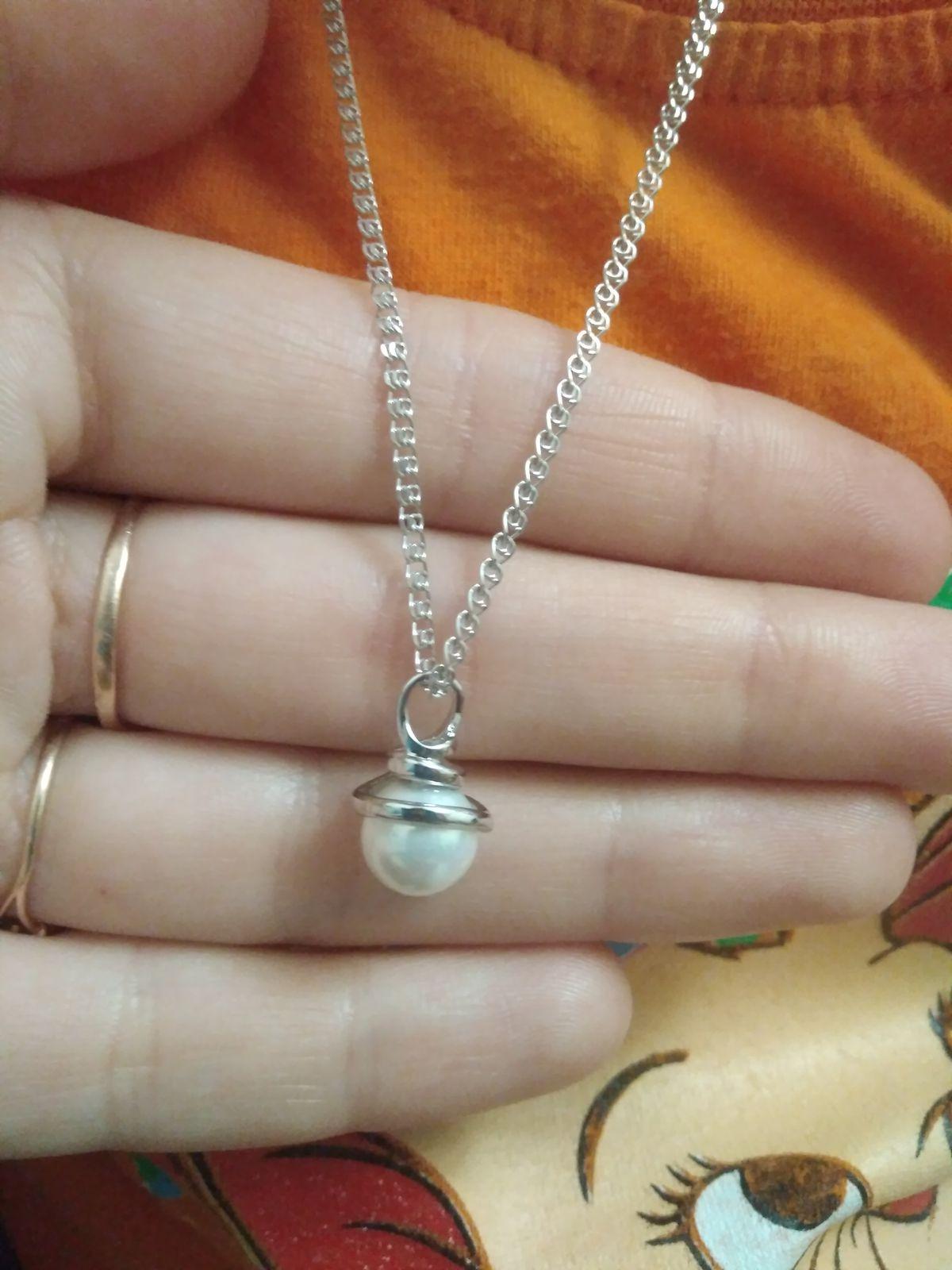 Серебряная цепочка 40 см.