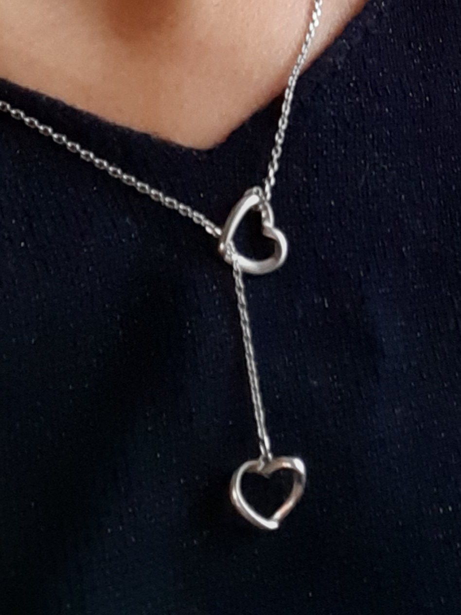Цепочка с сердечками, очень нежное, романтичное украшение