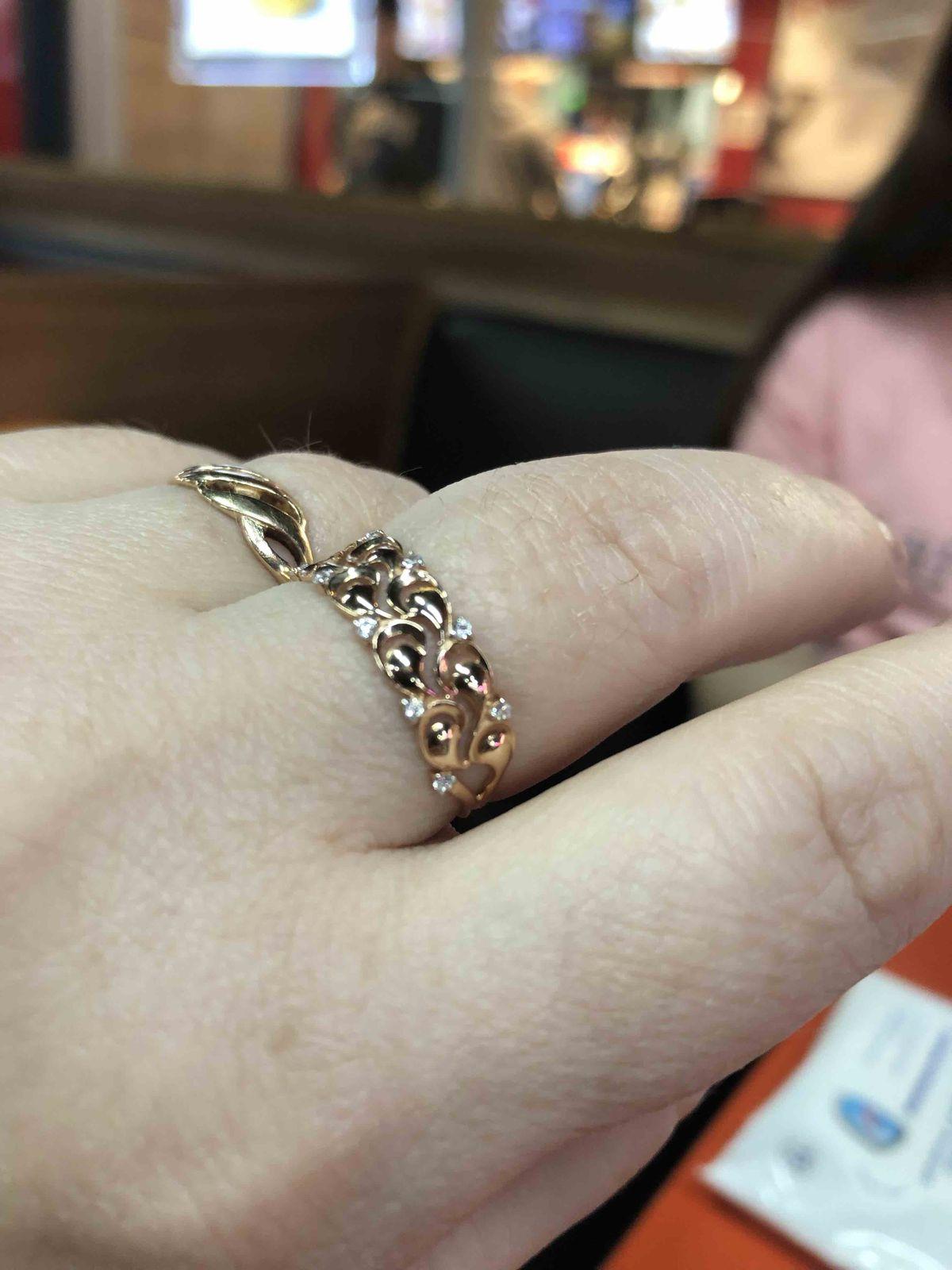 Нежное, ажурное кольцо