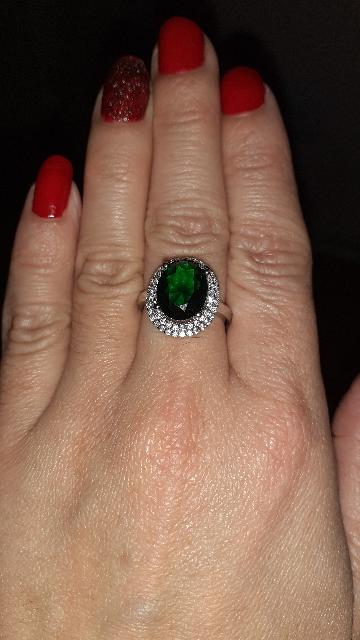 Серебрянное кольцо,с фианитами