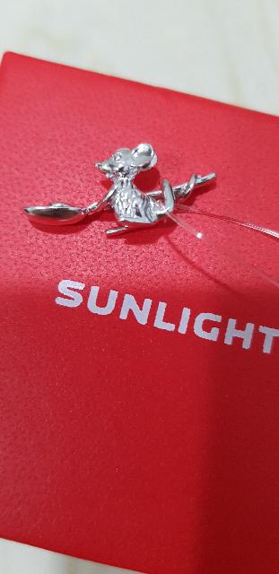 Серебряная, кошельковая мышь с ложкой загребушкой