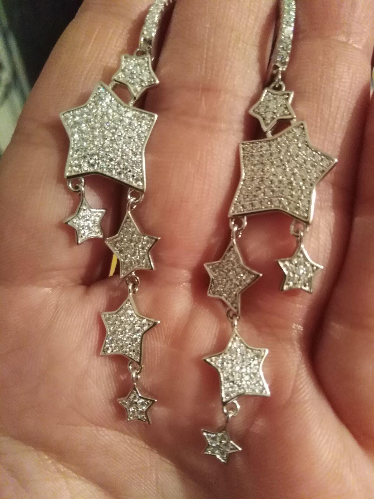 Шикарные серьги звёздочки.