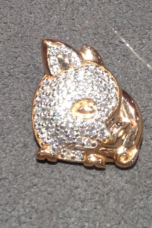 Серебряная брошь-подвеска