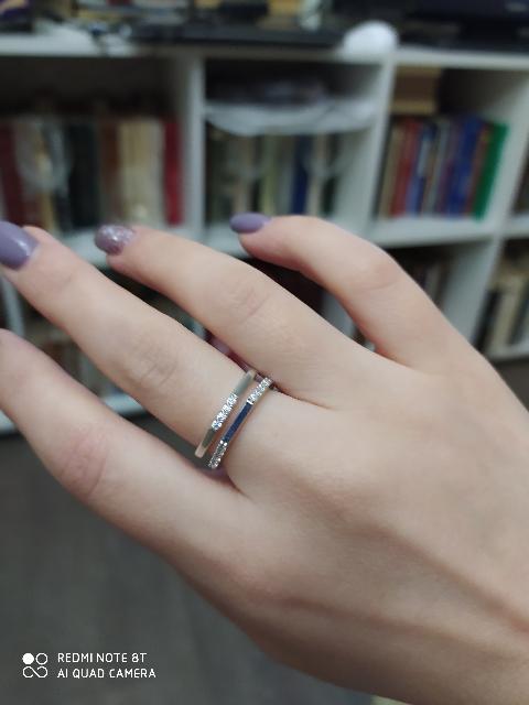 Кольцо с гиометрическим узором