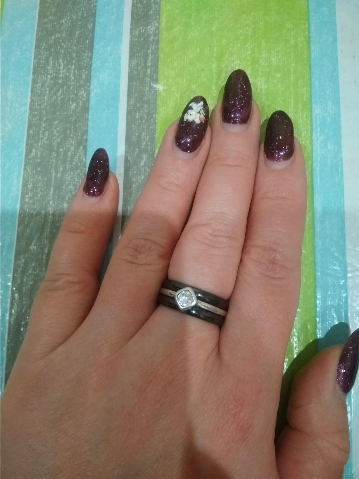 Колечко керамика-серебро с фианитом