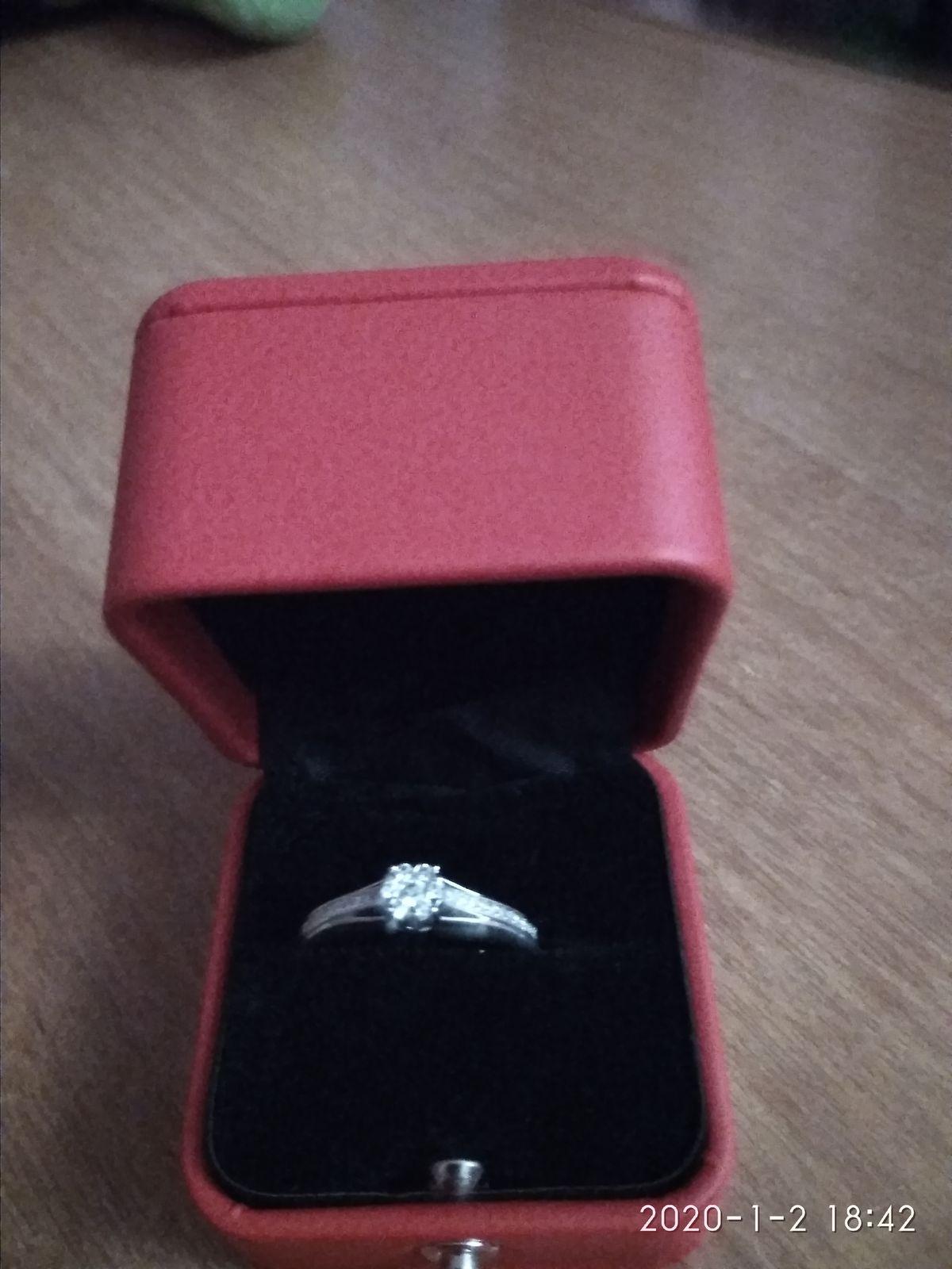 Муж подарил на новый год это кольцо я была очень рада.