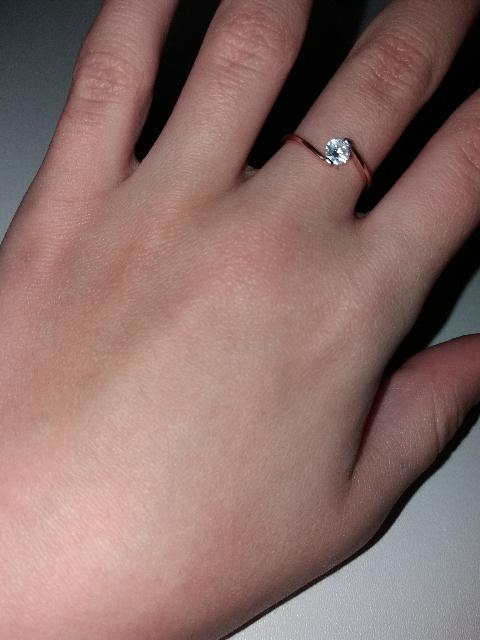 Красивое кольцо! Обслужили на высоте)