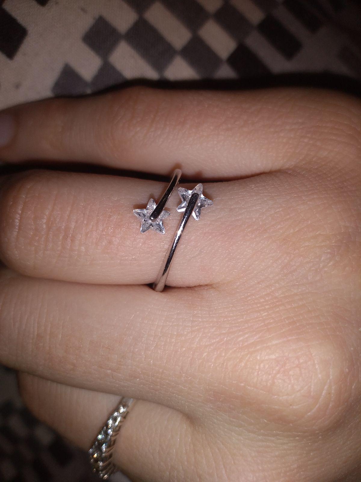 Кольцо со звездочками
