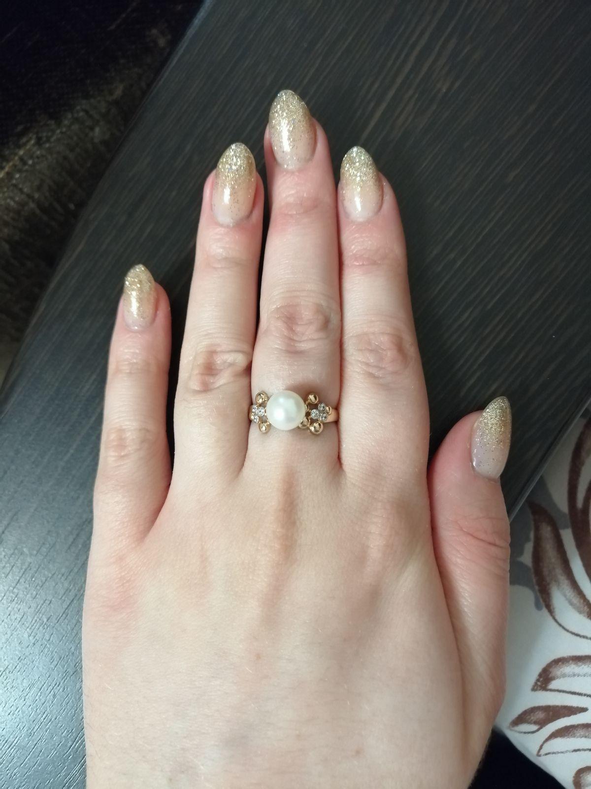 Бесподобное кольцо с жемчужинкой!