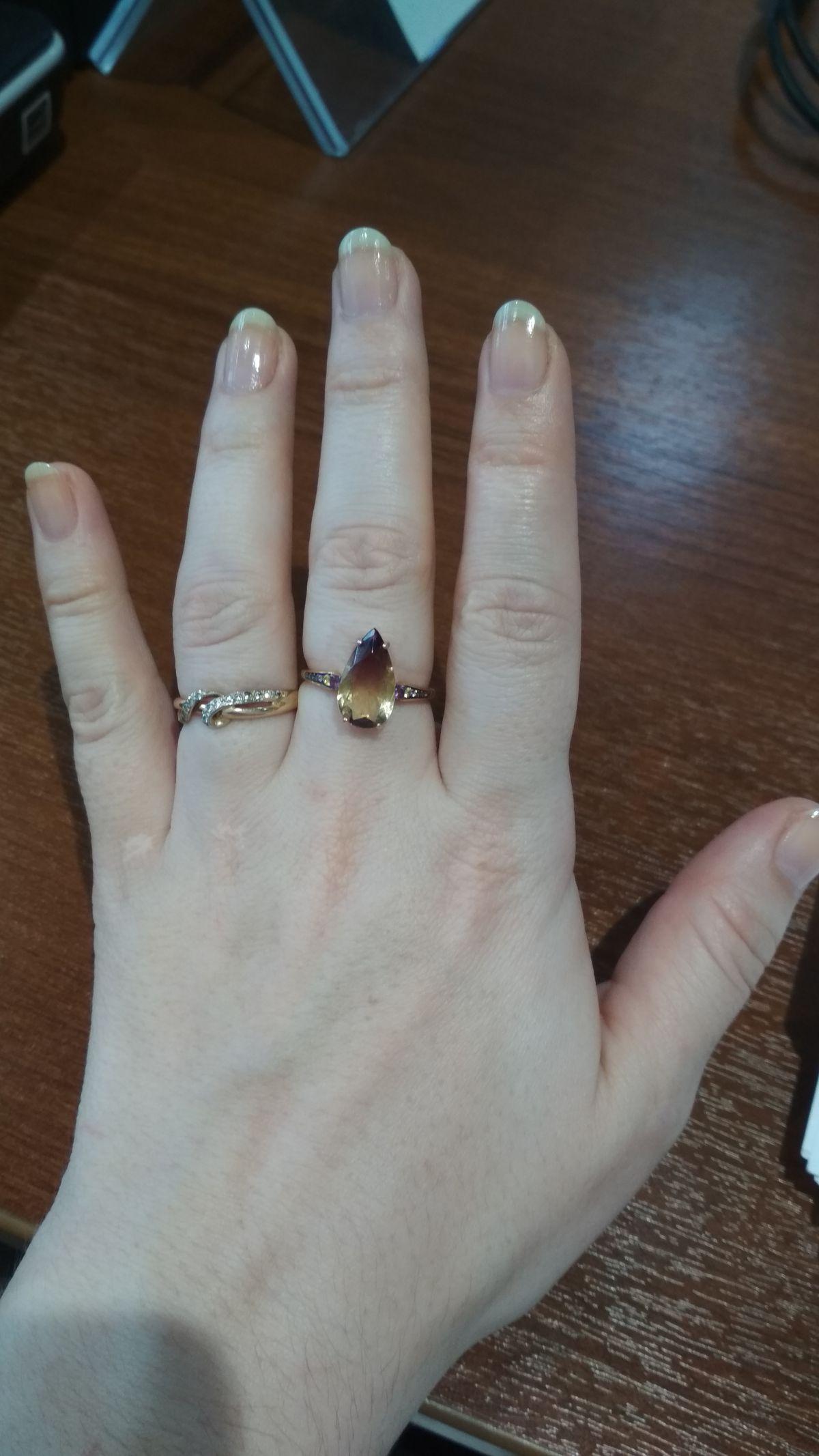 Чудесное кольцо с аметрином
