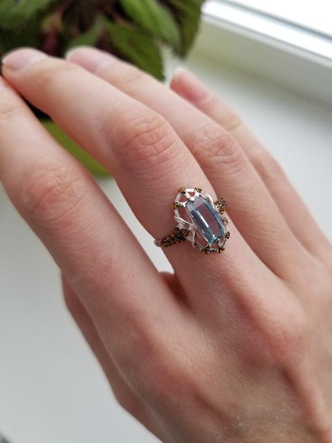 Кольцо с ситалом.