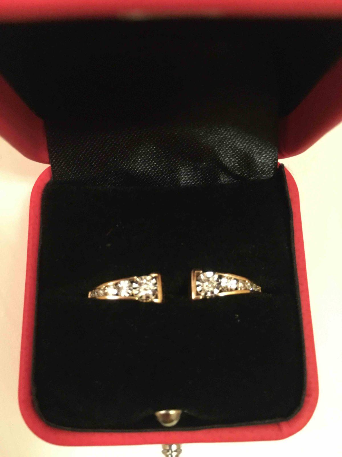 Золотые серьги с бриллиантами арт.87678