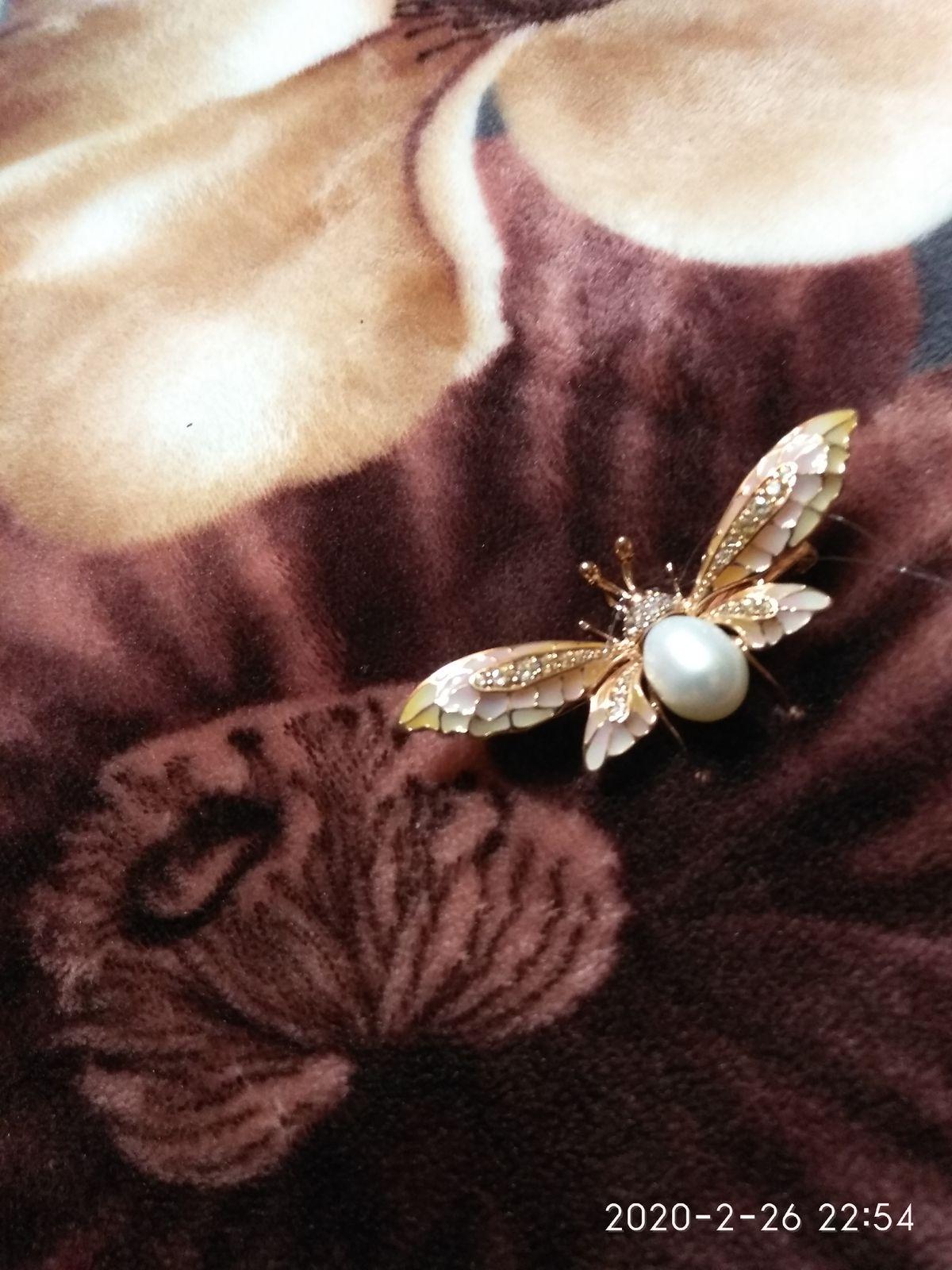 Бабочка брошь-подвеска