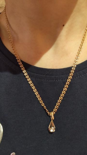 Шикарная золотая цепочка, 50 см.!