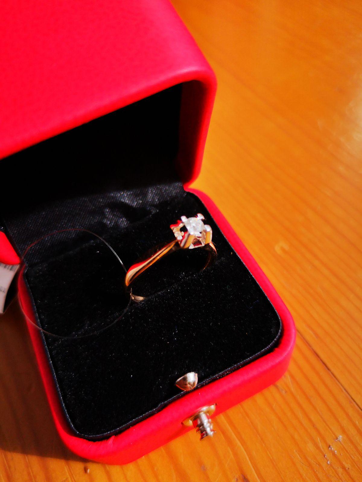 Моё первое колечко с бриллиантом