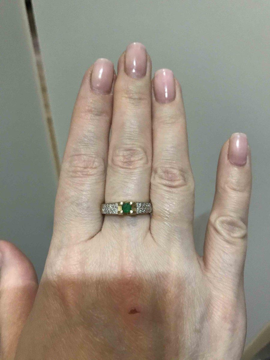 Кольцо с изумрудом!!!! Моя мечта!!!